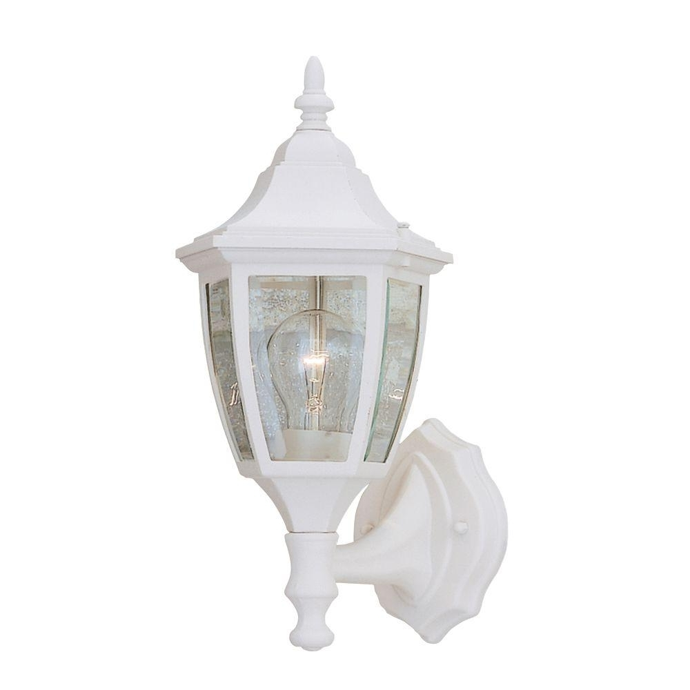 2019 White – Outdoor Lanterns – Designers Fountain – Outdoor Wall Mounted With Resin Outdoor Lanterns (View 1 of 20)