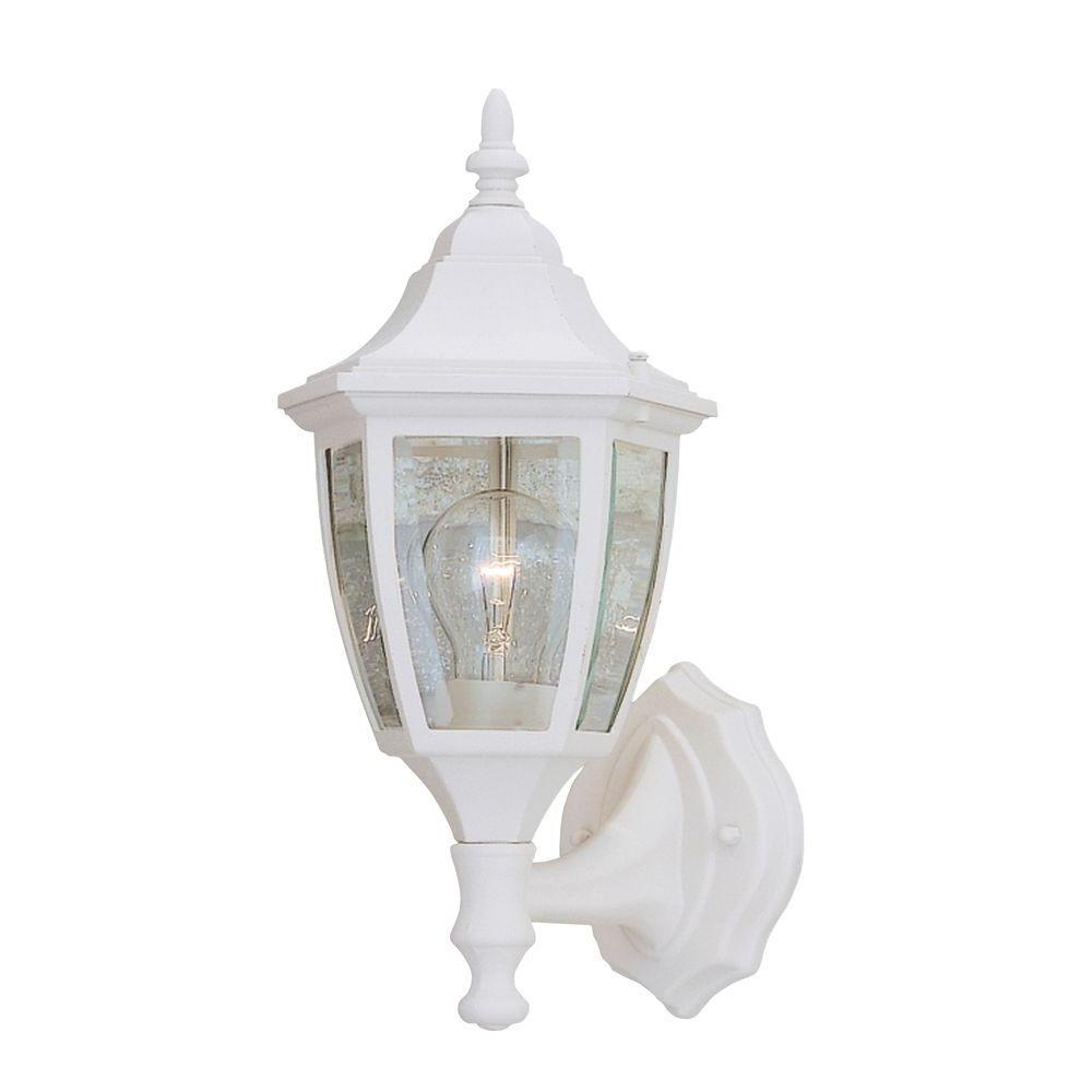 2019 White – Outdoor Lanterns – Designers Fountain – Outdoor Wall Mounted With Resin Outdoor Lanterns (View 11 of 20)