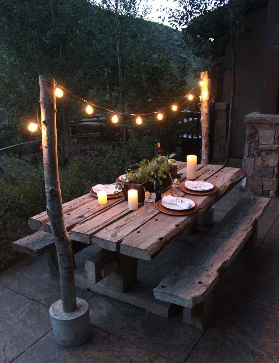 25 Great Ideas For Creating A Unique Outdoor Dining (Gallery 17 of 20)