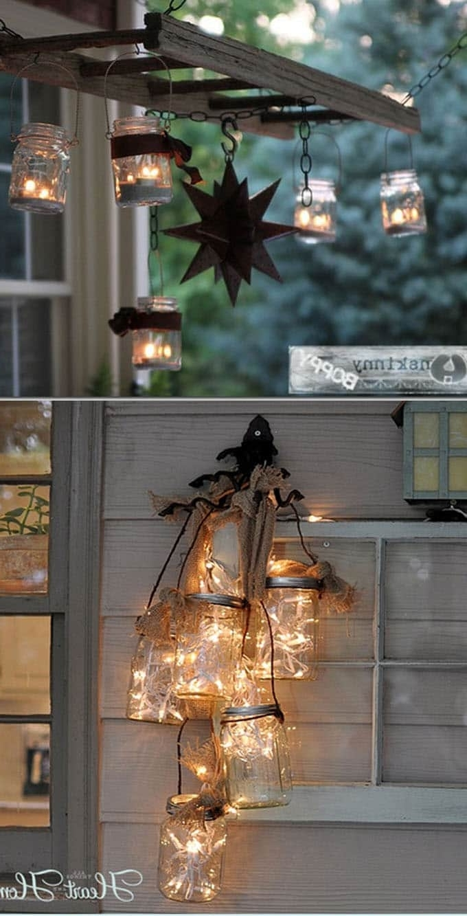 28 Stunning Diy Outdoor Lighting Ideas ( & So Easy! ) – Page 3 Of 3 With Most Recently Released Diy Outdoor Lanterns (Gallery 6 of 20)