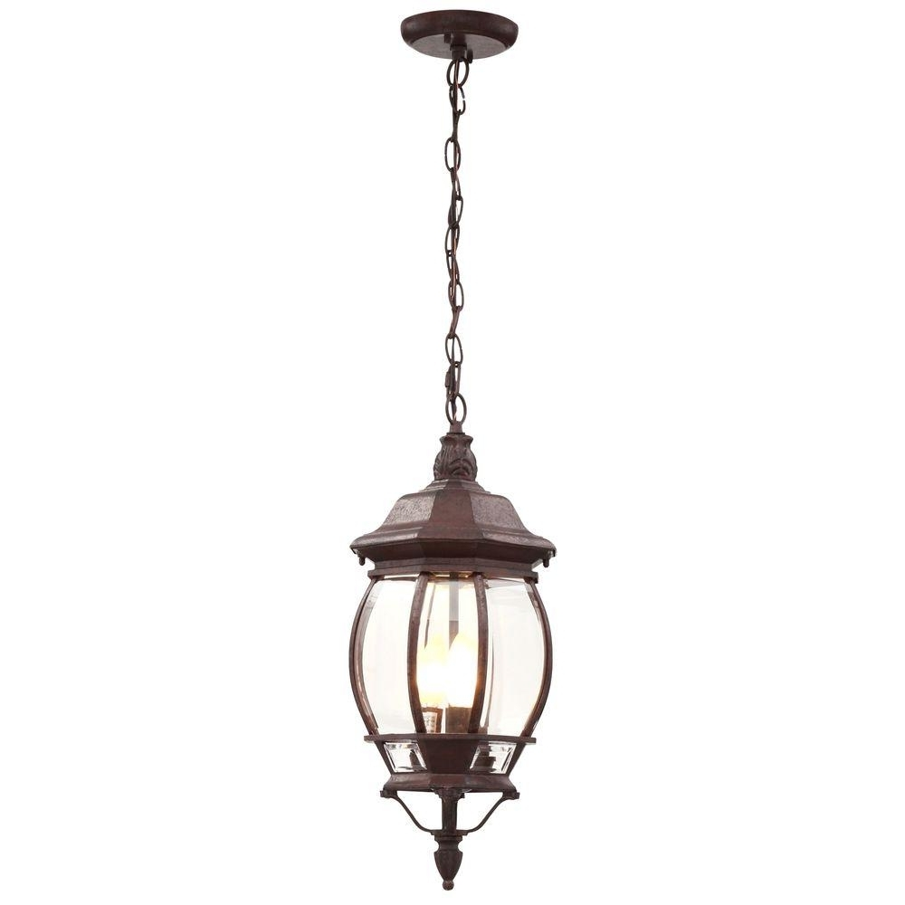 3 Light Outdoor Hanging Incandescent Lantern Old Bronze Weather In Widely Used Outdoor Weather Resistant Lanterns (Gallery 8 of 20)