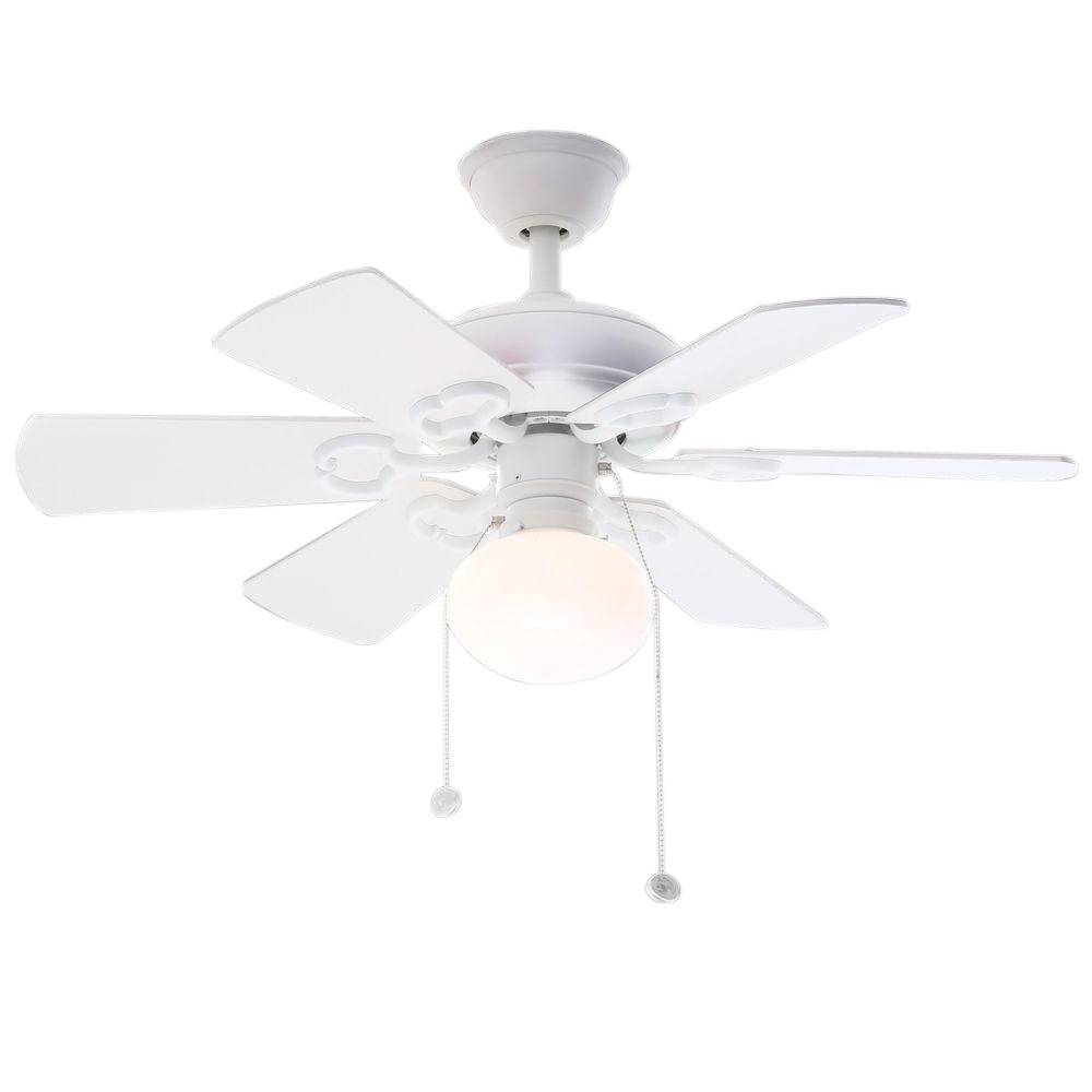 36 Inch Outdoor Ceiling Fans With Lights Intended For 2019 Hampton Bay Minuet Iii 36 In (View 4 of 20)