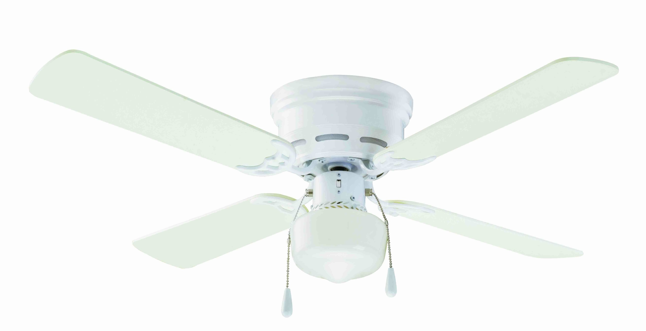 "42"" Mainstays Hugger Indoor Ceiling Fan With Light, White – Walmart Regarding Most Popular Outdoor Ceiling Fans Under $ (View 2 of 20)"