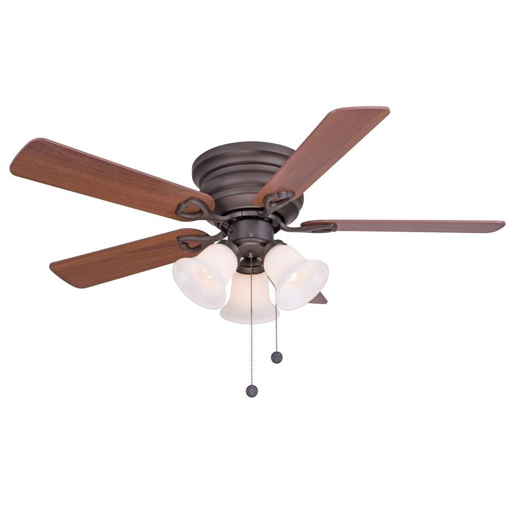 42 Outdoor Ceiling Fans With Light Kit With Favorite Clarkston 44 In. Indoor Oil Rubbed Bronze Ceiling Fan With Light Kit (Gallery 17 of 20)