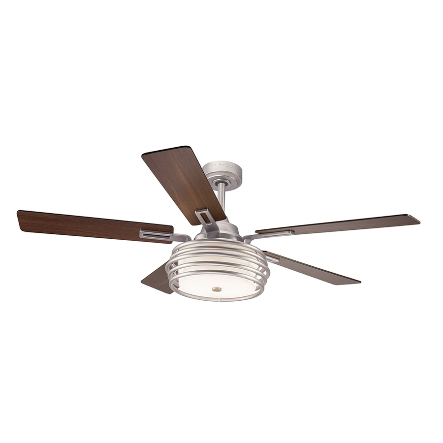 44 Inch Outdoor Ceiling Fans With Lights Within Fashionable Ceiling Fan: Recomended Kichler Ceiling Fans For Home Kichler Twist (View 4 of 20)