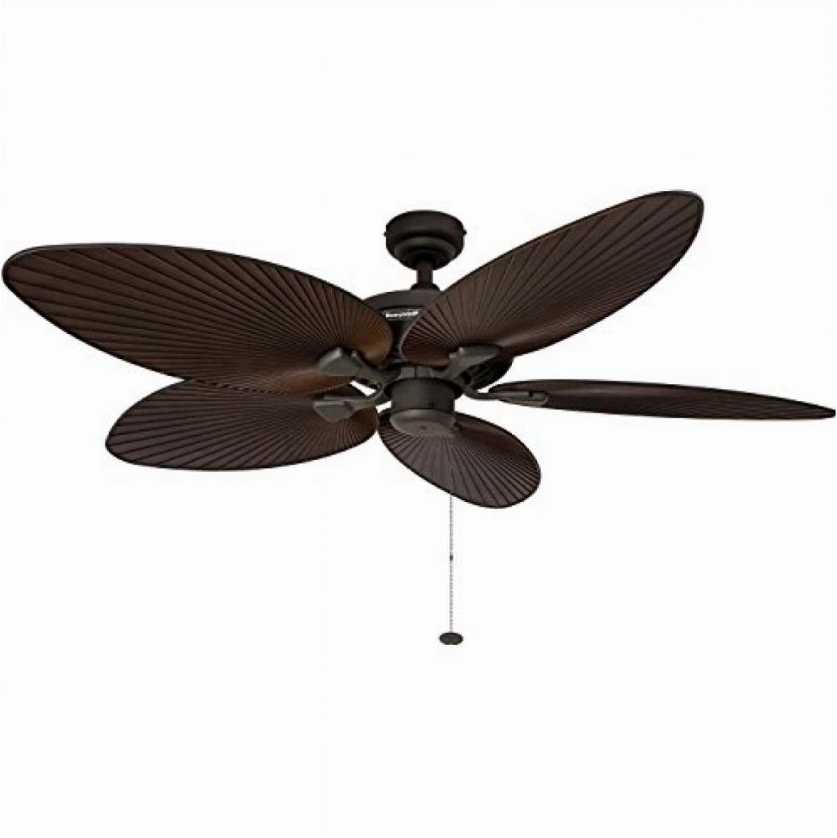 """52"""" Tropical Ceiling Fan Five Palm Leaf Blades Indoor/outdoor Damp Pertaining To Fashionable Leaf Blades Outdoor Ceiling Fans (Gallery 20 of 20)"""