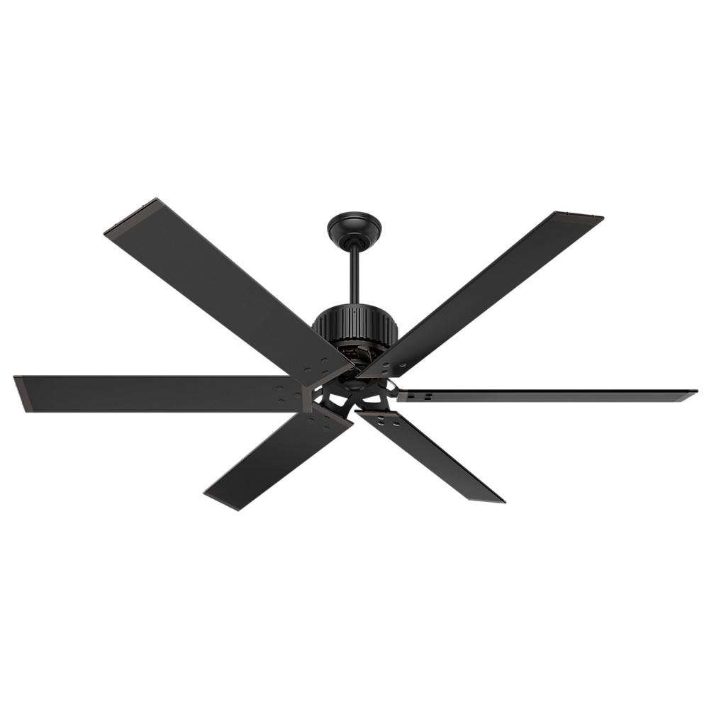 72 Inch Outdoor Ceiling Fans Intended For Latest Hunter Hfc 72 72 In. Indoor/outdoor Matte Black Ceiling Fan With (Gallery 6 of 20)