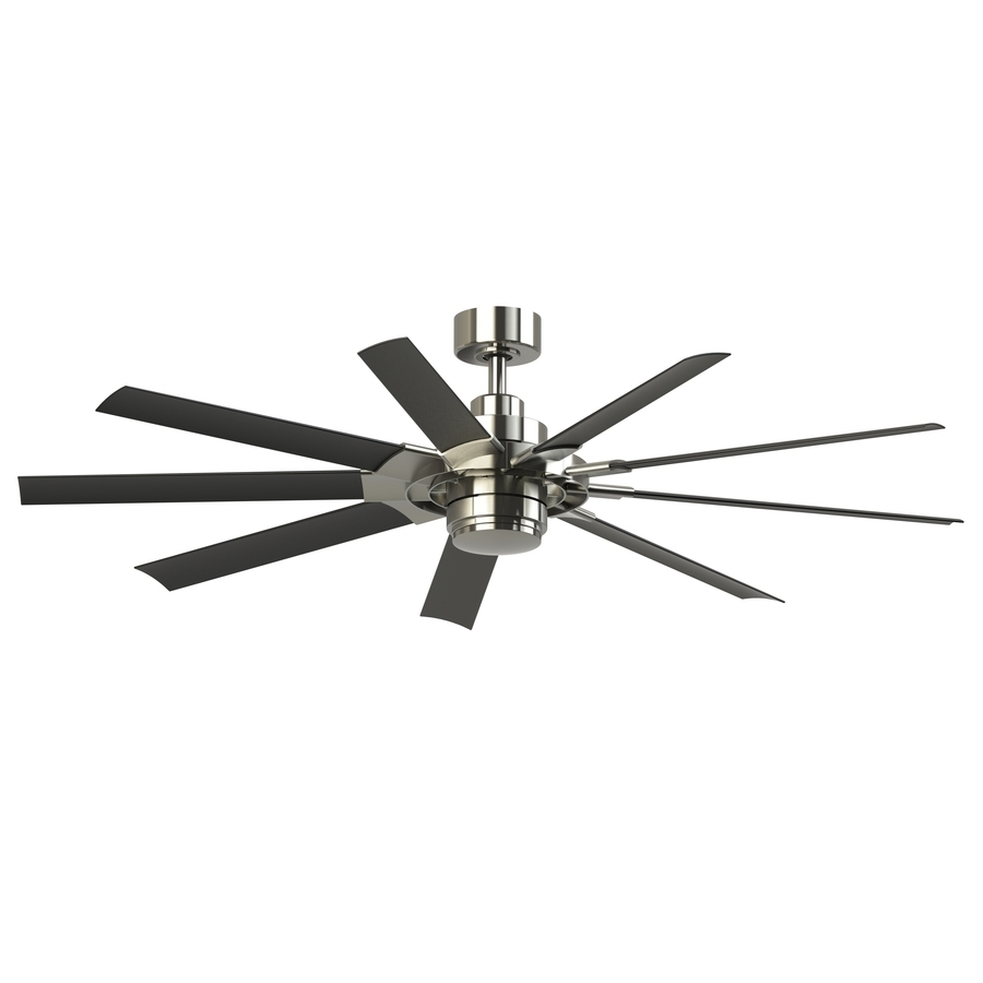 72 Inch Outdoor Ceiling Fans Throughout Well Known Shop Fanimation Studio Collection Slinger V2 72 In Brushed Nickel (View 9 of 20)