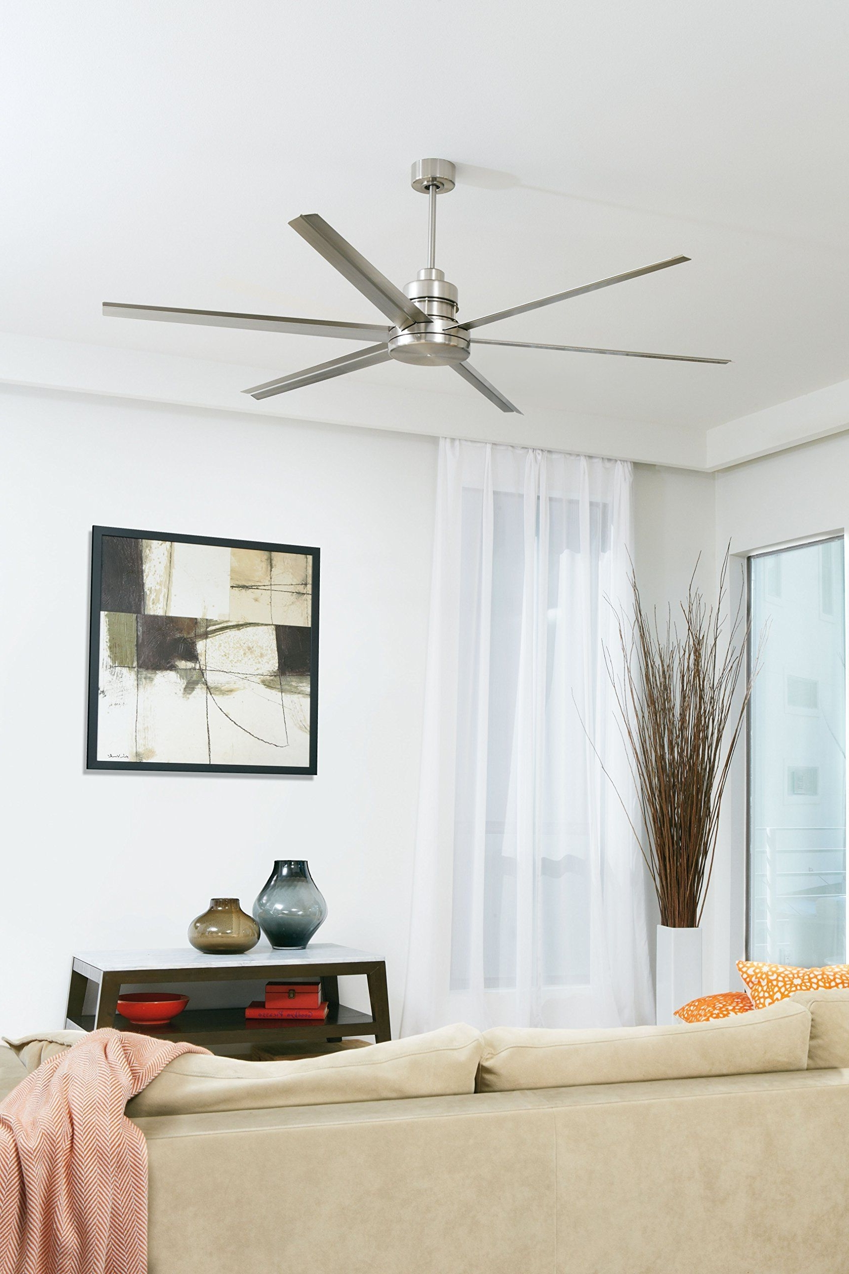 72 Inch Outdoor Ceiling Fans With Light Throughout Most Recent Craftmade Mnd72Esp6 Mondo 72 Inch Espresso Six Blade Metal Outdoor (Gallery 19 of 20)