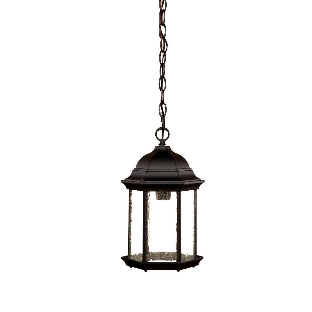 Acclaim 5186Bk/fr Madison Collection 1 Light Outdoor Light Fixture Regarding Favorite Outdoor Lanterns At Amazon (Gallery 19 of 20)