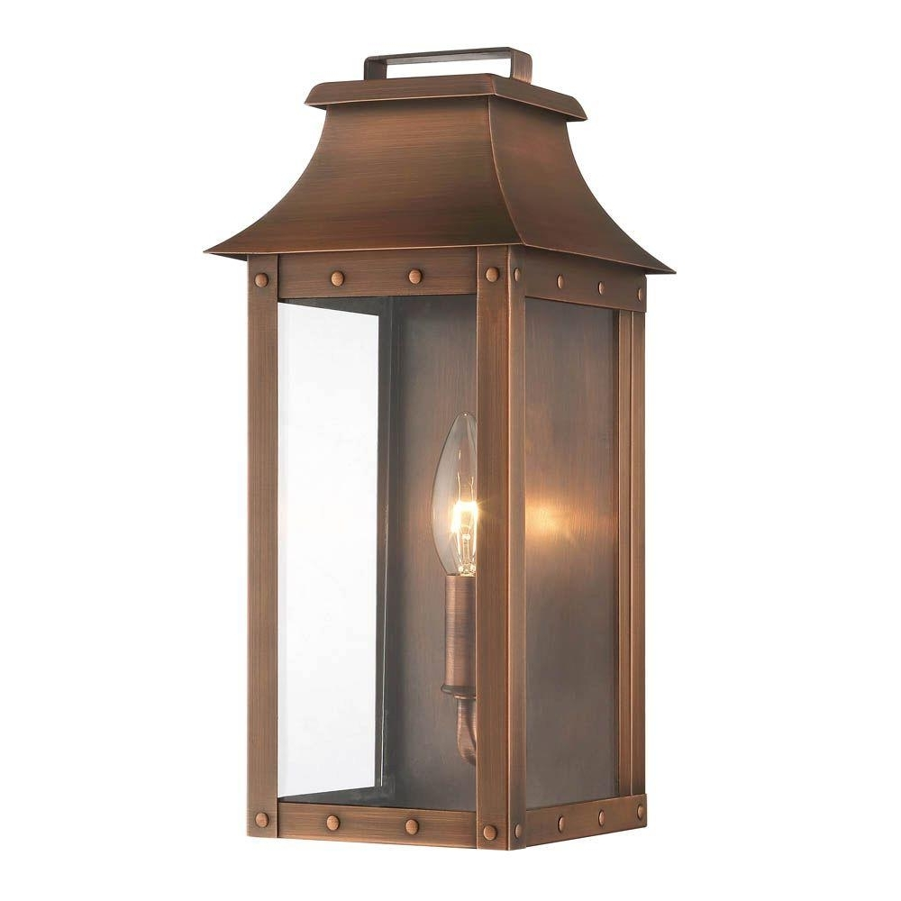 Acclaim Lighting Manchester Collection 1 Light Copper Patina Outdoor In Trendy Copper Outdoor Lanterns (View 7 of 20)