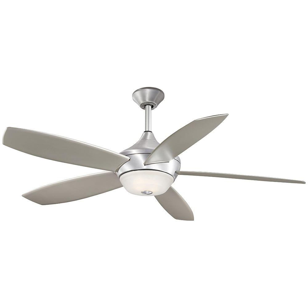 Aire A Minka Group Design Spring Haven 52 In. Indoor/outdoor Brushed Intended For Trendy Minka Outdoor Ceiling Fans With Lights (Gallery 7 of 20)