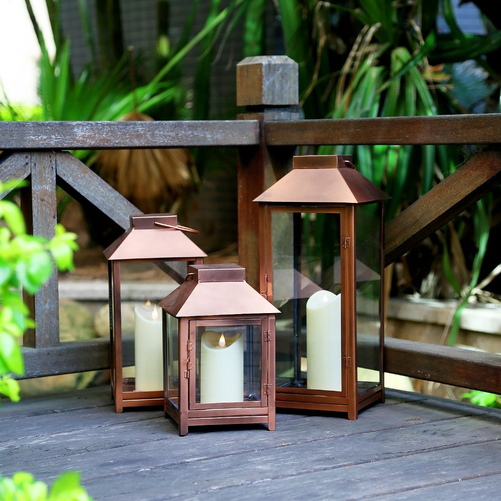 Aliexpress : Buy Giveu Big Lantern Set Of 3 Indoor And Outdoor With Regard To Best And Newest Outdoor Big Lanterns (Gallery 11 of 20)