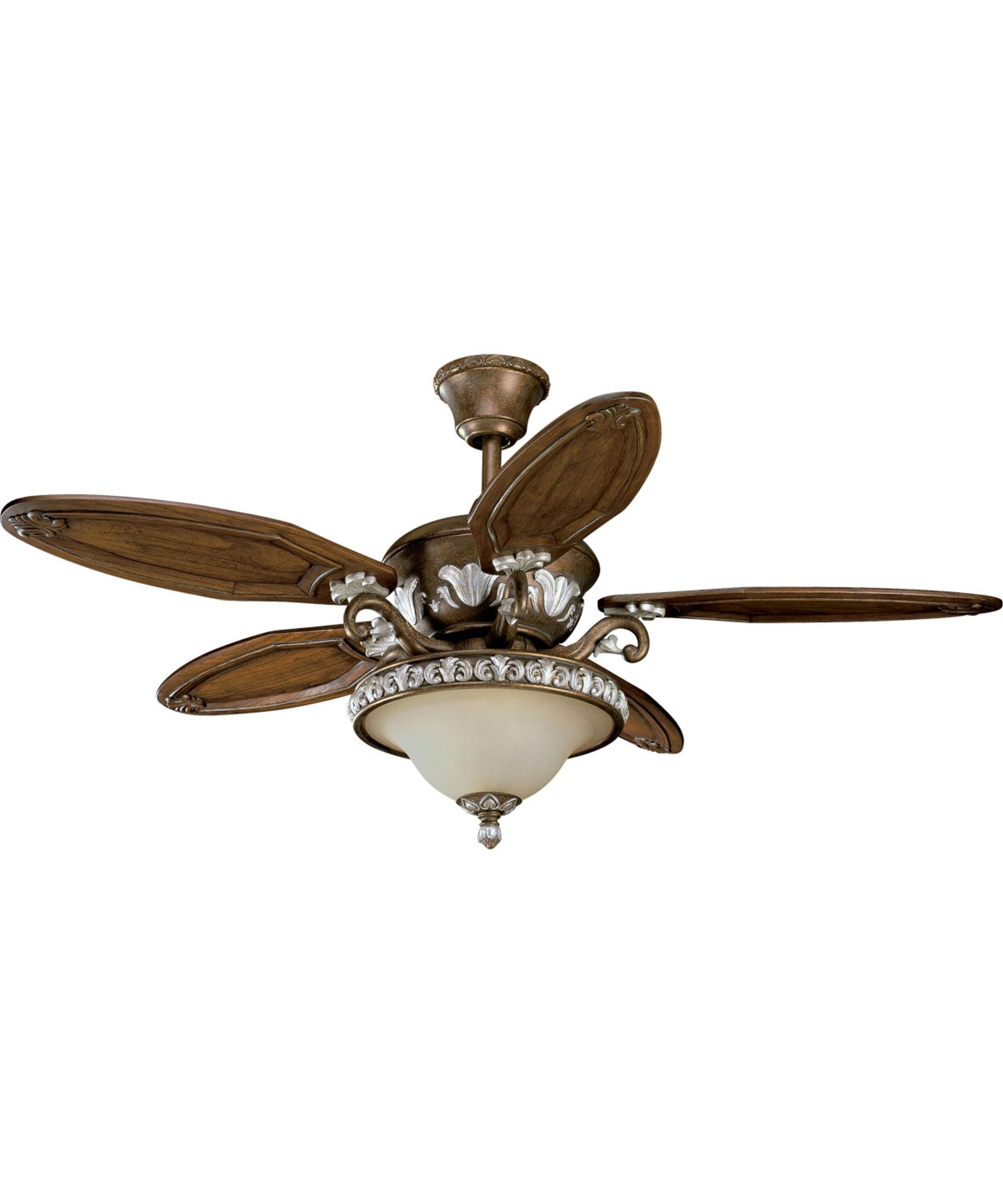 Amazon Outdoor Ceiling Fans With Lights Within Most Current Thomasville Lighting P2505 Carmel 54 Inch 5 Blade Ceiling Fan (Gallery 18 of 20)
