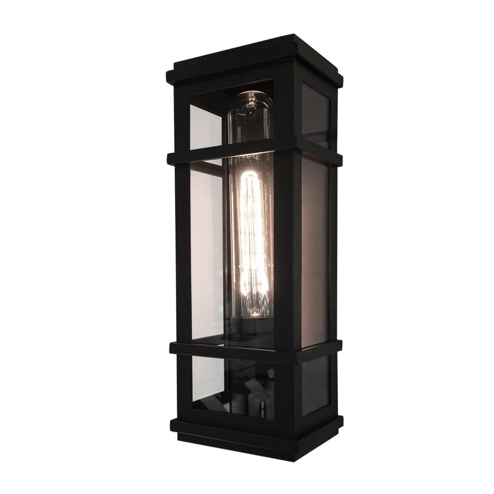 Artcraft 1 Light Black Outdoor Wall Mount Sconce Cli Acg005548 – The With Regard To Newest Home Depot Outdoor Lanterns (View 2 of 20)