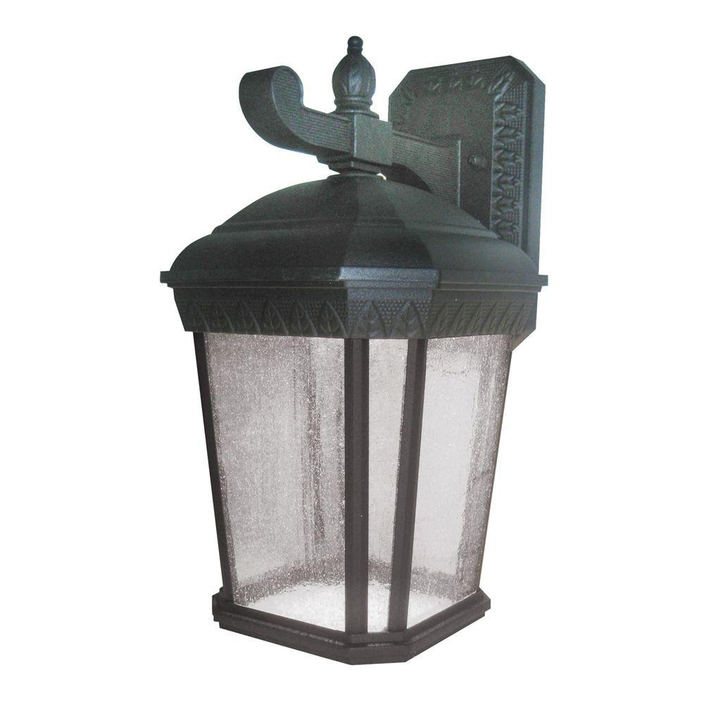 Aspects Bronson Black Outdoor Integrated Led Wall Mount Lantern Pertaining To Newest Extra Large Outdoor Lanterns (View 14 of 20)