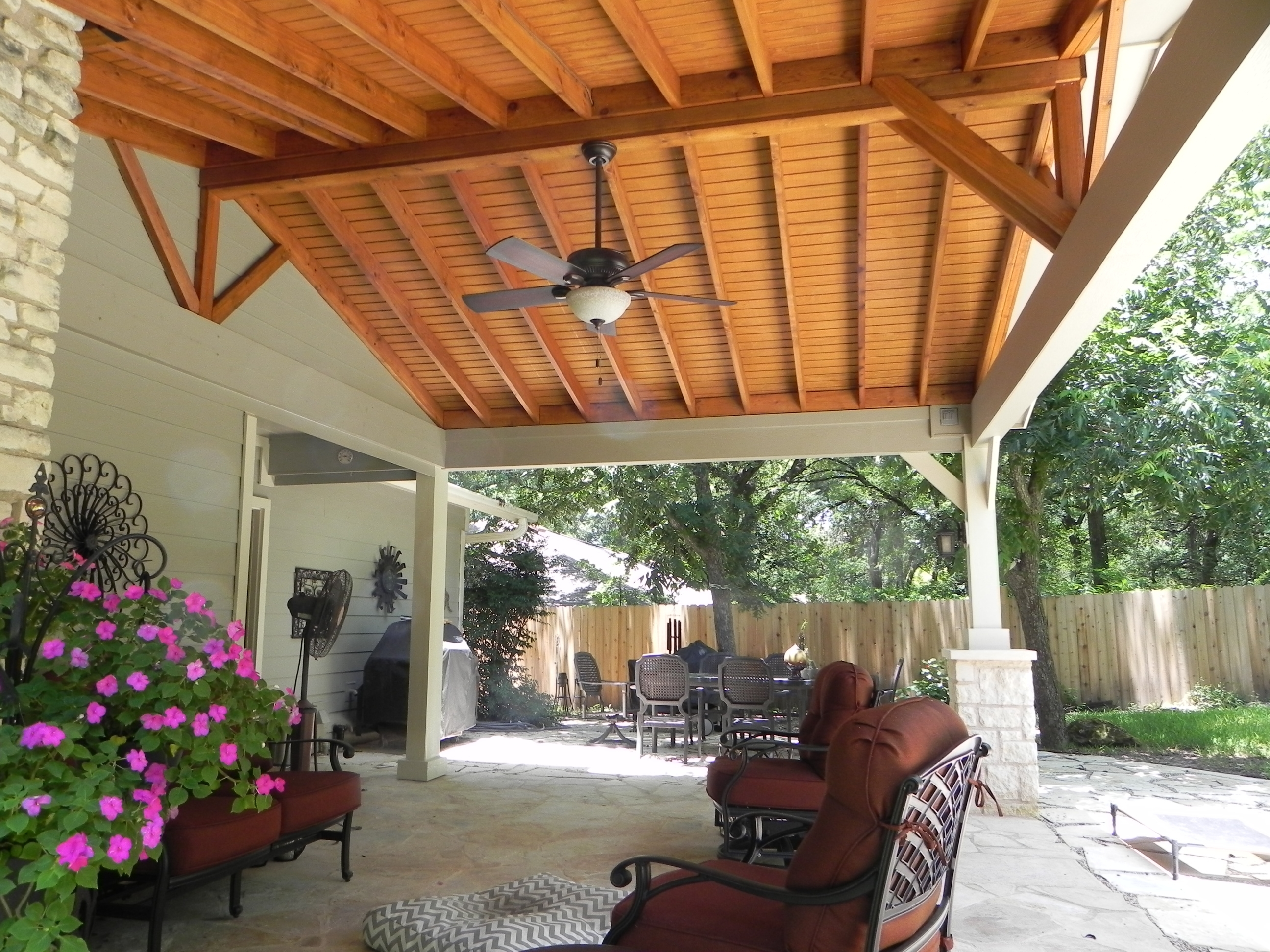 Austin Decks, Pergolas, Covered Within Outdoor Ceiling Fans Under Pergola (View 2 of 20)