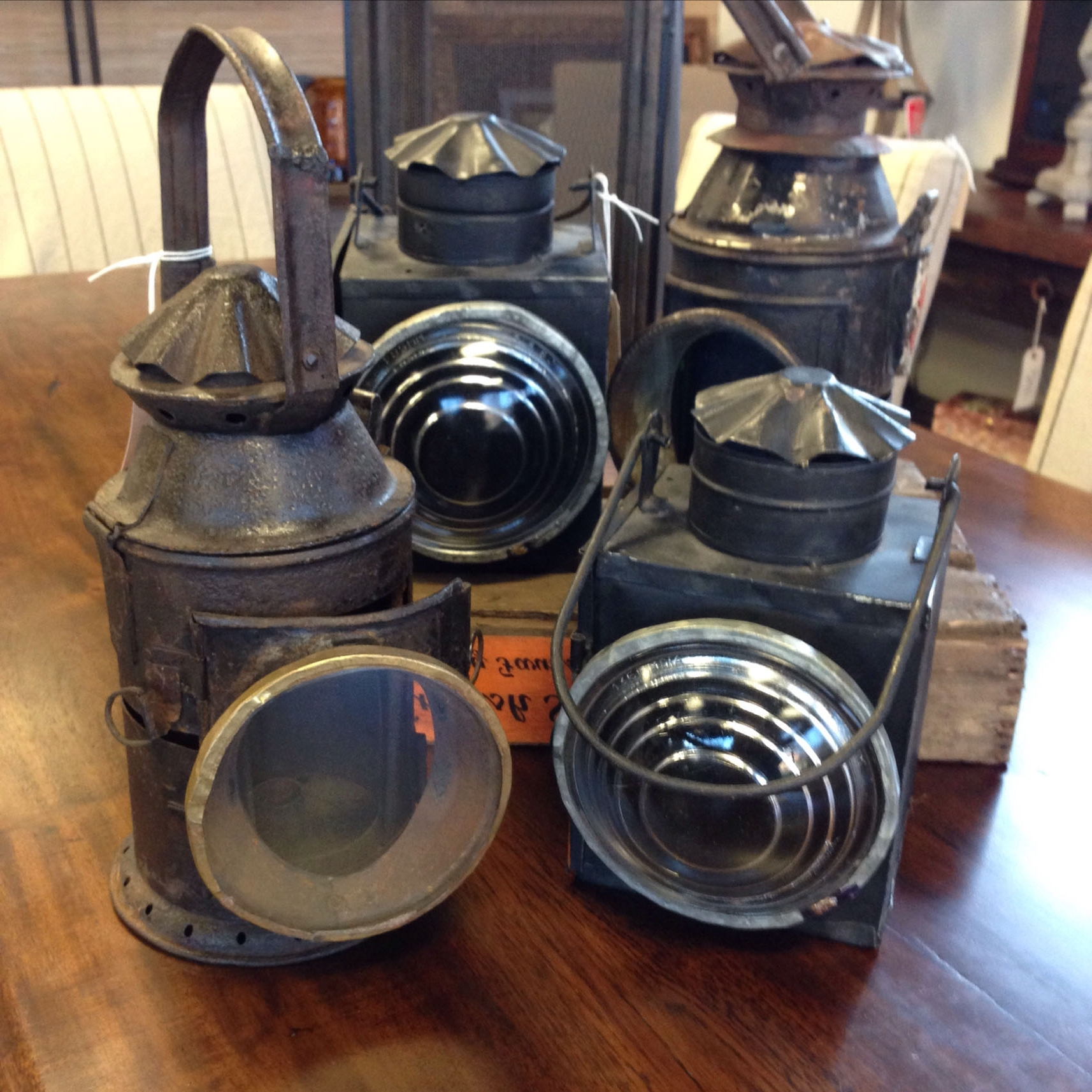 Authentic Antique Railroad Lanterns – Kudzu Antiques Inside Well Liked Outdoor Railroad Lanterns (View 6 of 20)