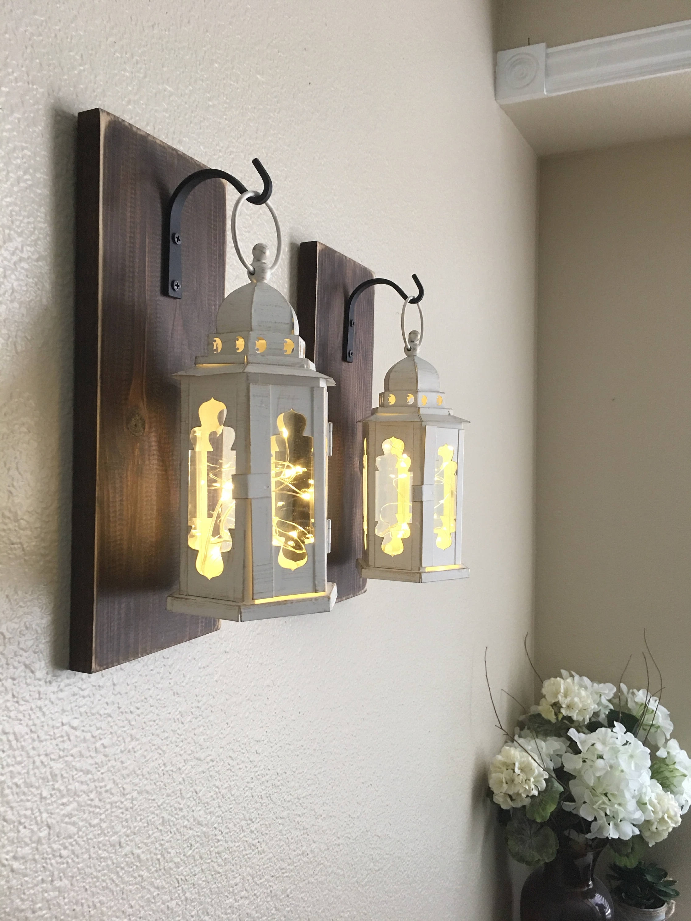 Awe Inspiring Hanging Wall Lanterns Online Etsy Set Of 2 Lantern In Recent Etsy Outdoor Lanterns (View 10 of 20)