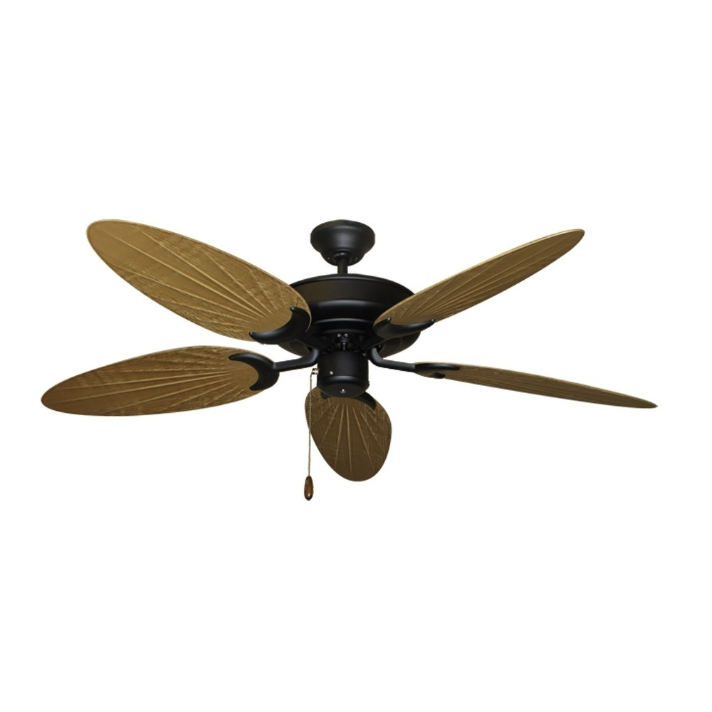 Featured Photo of Outdoor Ceiling Fans With Bamboo Blades