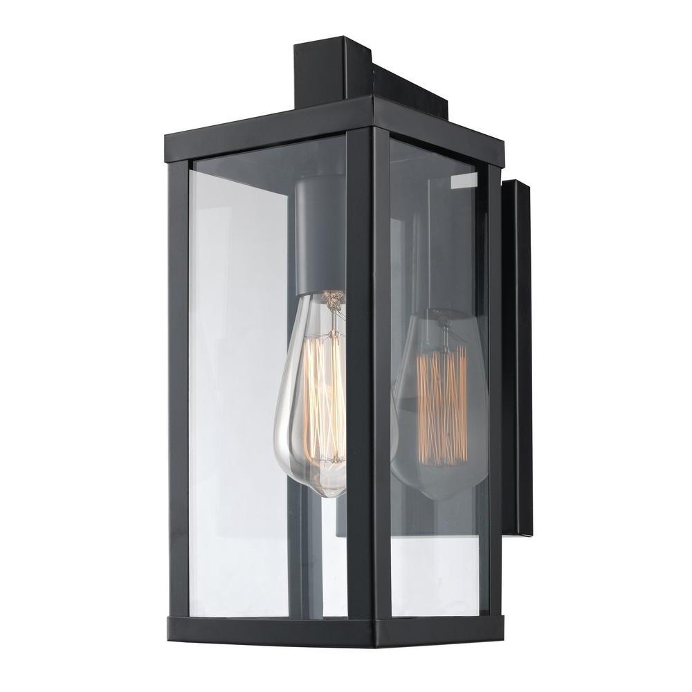 Bel Air Lighting Oxford 1 Light Black Outdoor Wall Mount Lantern Regarding Most Popular Outdoor Lanterns And Sconces (Gallery 18 of 20)