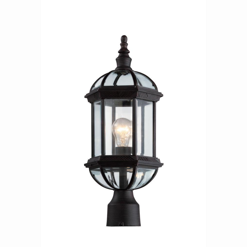 Bel Air Lighting – Post Lighting – Outdoor Lighting – The Home Depot With Well Liked Rust Proof Outdoor Lanterns (Gallery 12 of 20)