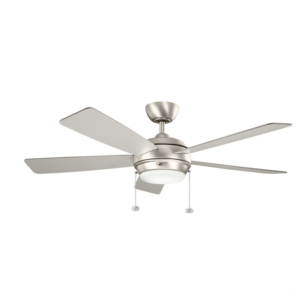 Best And Newest Brushed Nickel Outdoor Ceiling Fans Pertaining To 60 Inch Outdoor Ceiling Fan With Light Amazing Kichler Lighting (View 14 of 20)