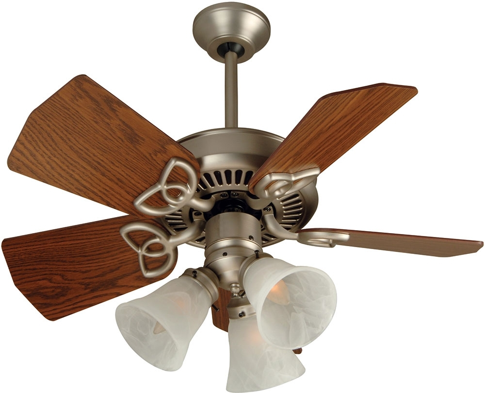 Best And Newest Craftmade Outdoor Ceiling Fans Craftmade Throughout Craftmade K10439 Piccolo Brushed Satin Nickel Indoor / Outdoor 30 (Gallery 15 of 20)