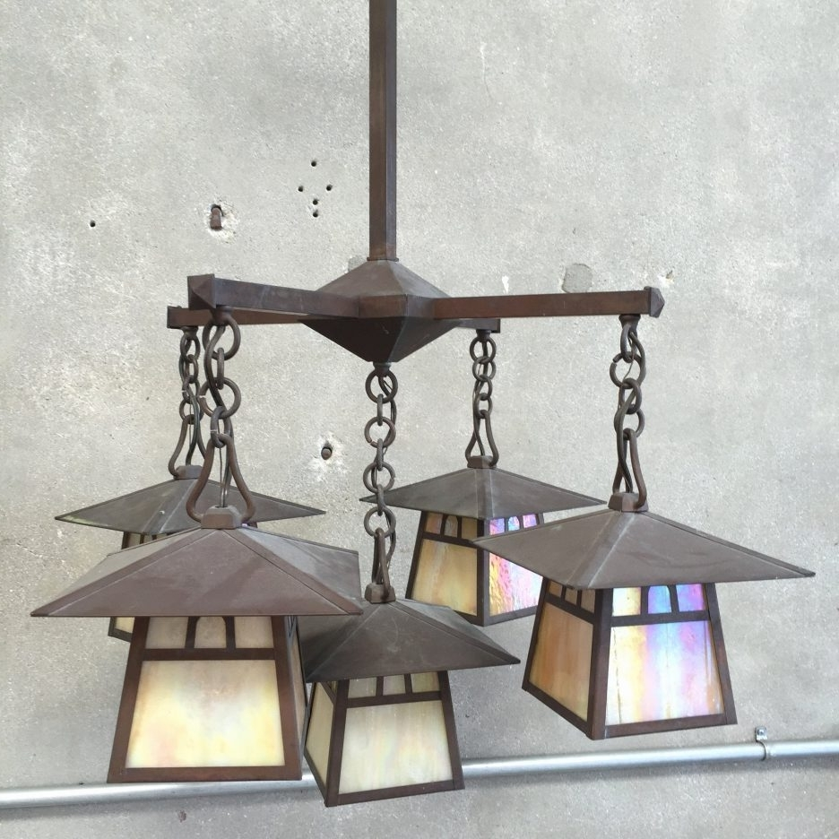 Best And Newest Craftsman Flood Light Spanish Mission Lighting Flush Mount Craftsman With Regard To Mission Style Outdoor Ceiling Fans With Lights (Gallery 16 of 20)