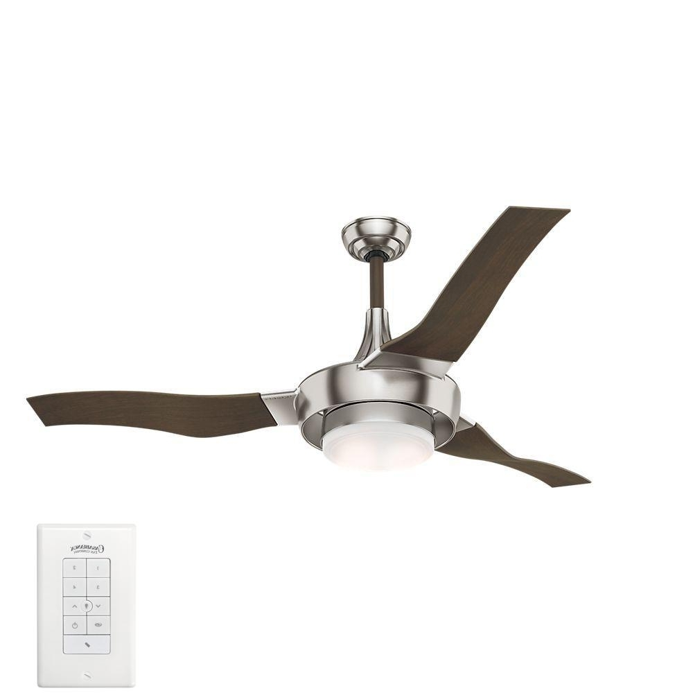 Best And Newest Expensive Outdoor Ceiling Fans Within Casablanca Perseus 64 In. Led Indoor/outdoor Brushed Nickel Ceiling (Gallery 18 of 20)