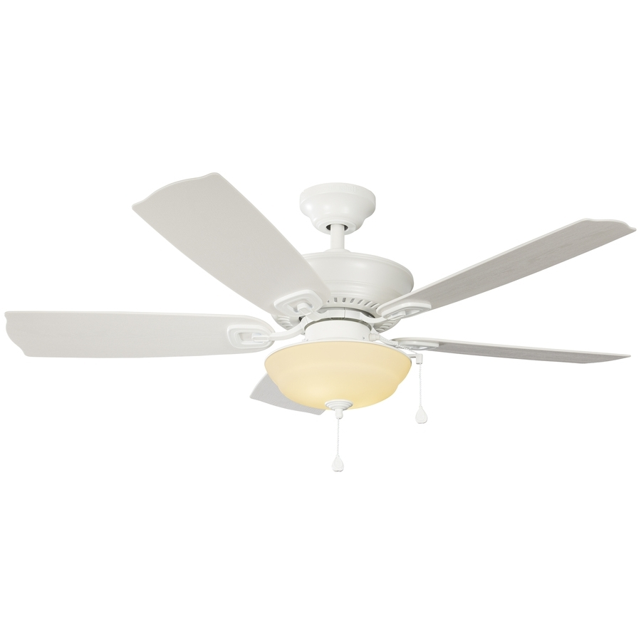 Best And Newest Harbor Breeze Outdoor Ceiling Fans In Shop Harbor Breeze Echolake 52 In White Indoor/outdoor Ceiling Fan (Gallery 19 of 20)