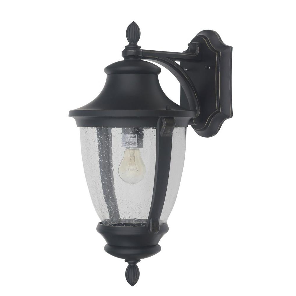 Best And Newest Home Decorators Collection Wilkerson 1 Light Black Outdoor Wall Inside Black Outdoor Lanterns (View 4 of 20)