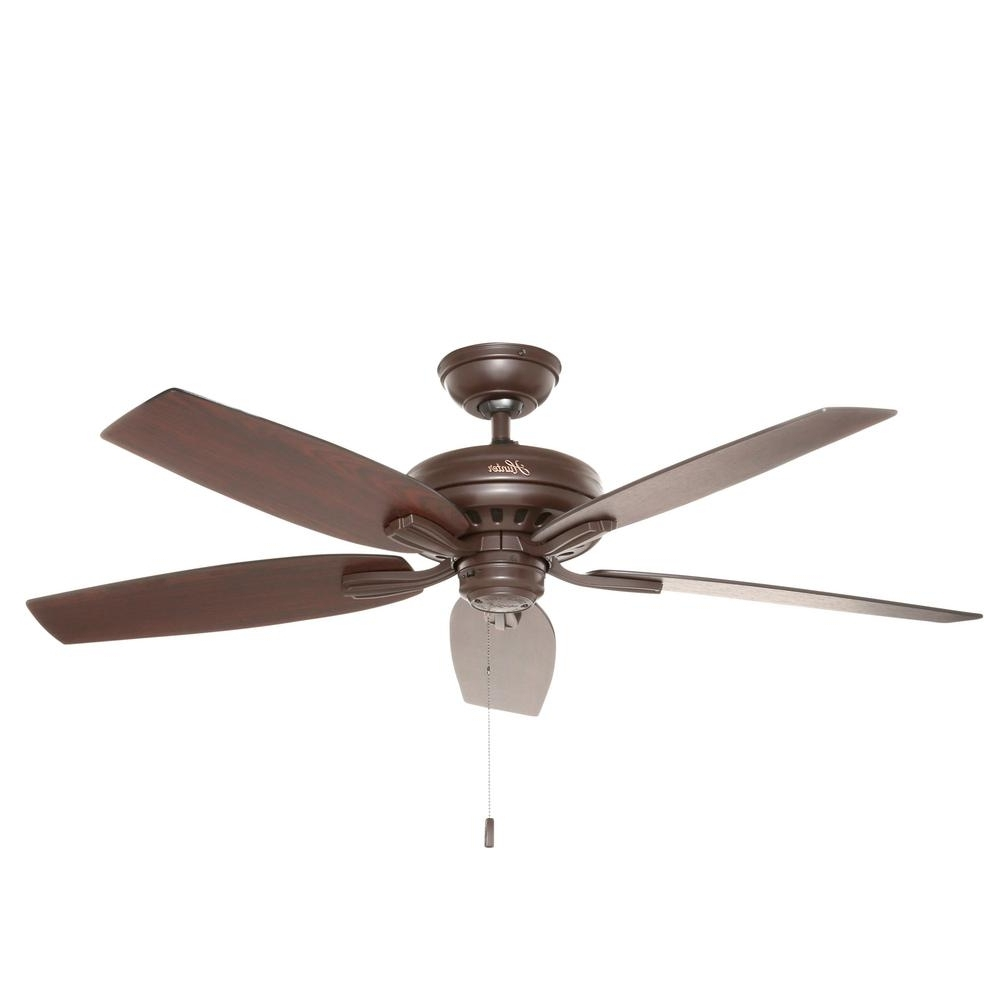 Best And Newest Hunter Indoor Outdoor Ceiling Fans With Lights Regarding Hunter Newsome 52 In. Indoor/outdoor Premier Bronze Ceiling Fan (Gallery 20 of 20)