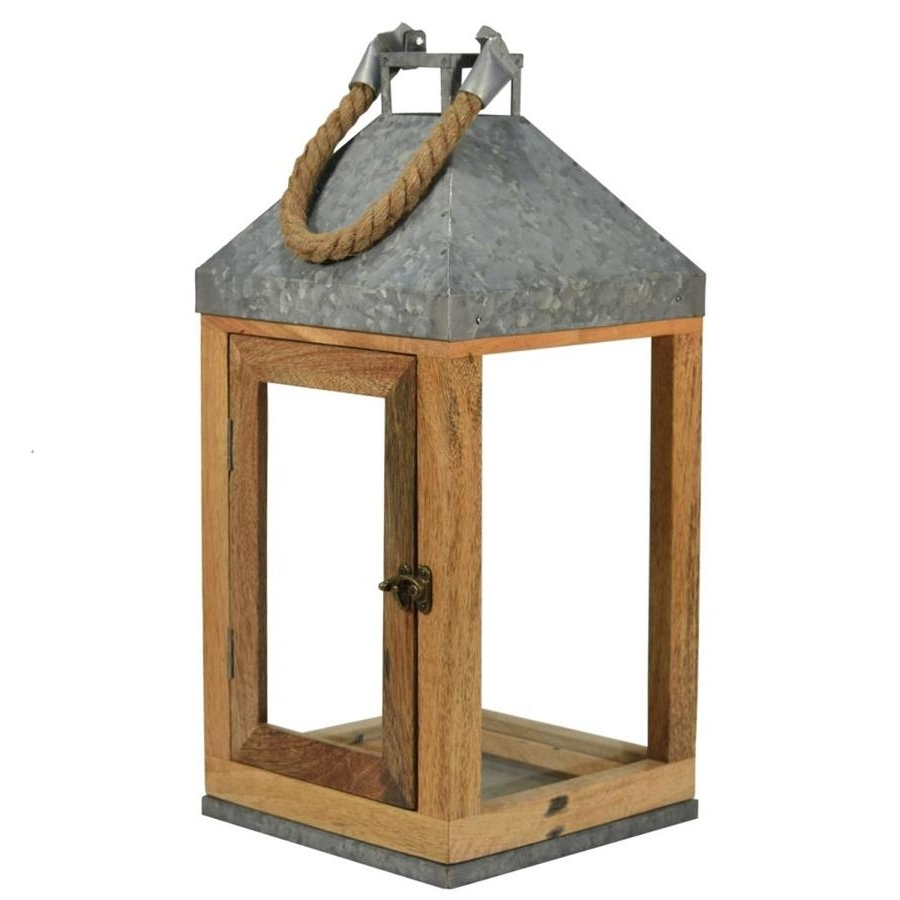 Best And Newest Inexpensive Outdoor Lanterns For Shop Outdoor Decorative Lanterns At Lowes (View 1 of 20)