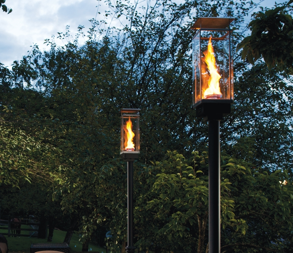 Best And Newest Outdoor Gel Lanterns Regarding Tempest Torch – Outdoor Gas Lamps And Lighting (Gallery 12 of 20)
