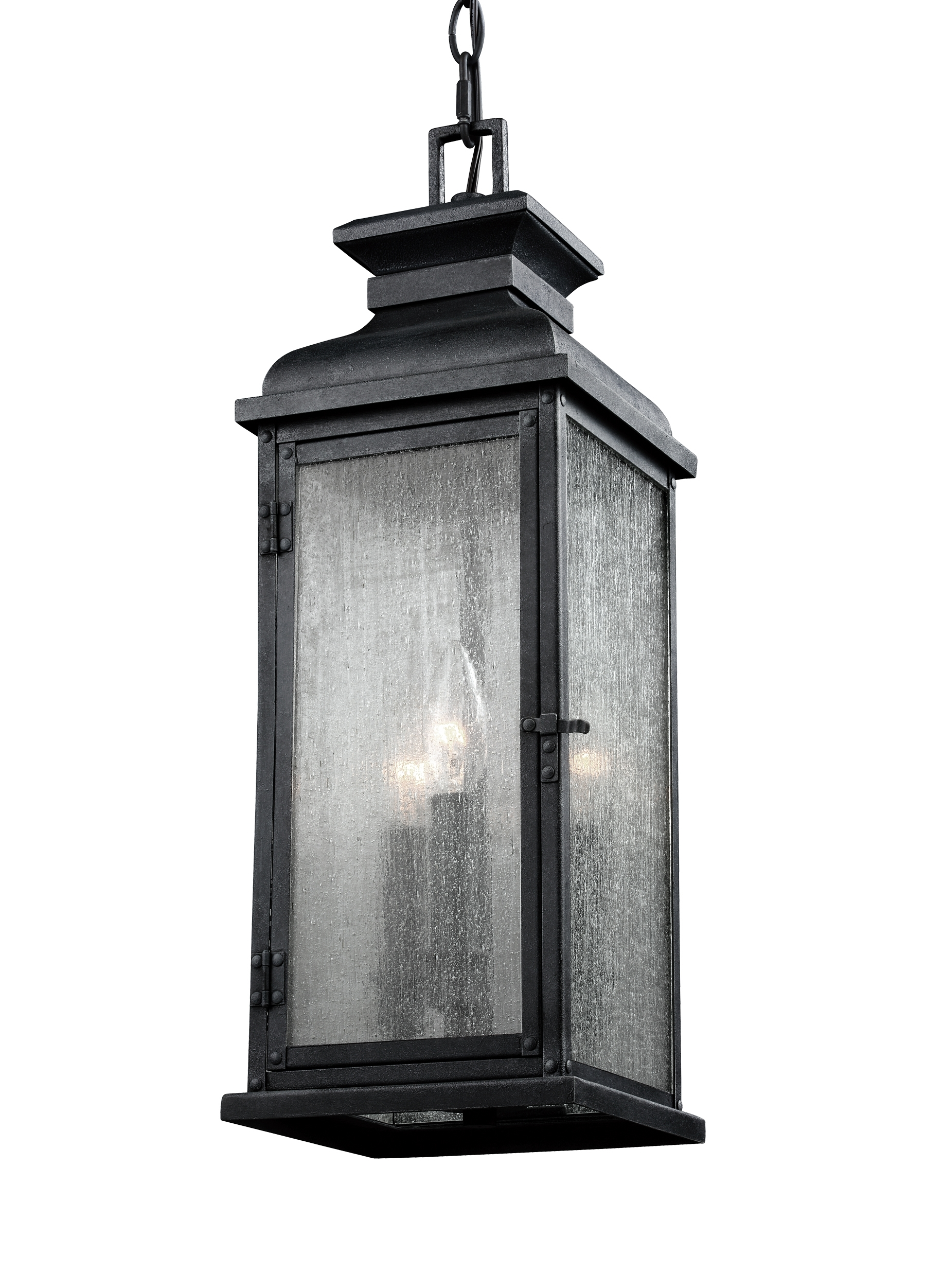 Best And Newest Outdoor Hanging Lanterns Intended For Ol11109Dwz,3 – Light Outdoor Pendant,dark Weathered Zinc (Gallery 16 of 20)