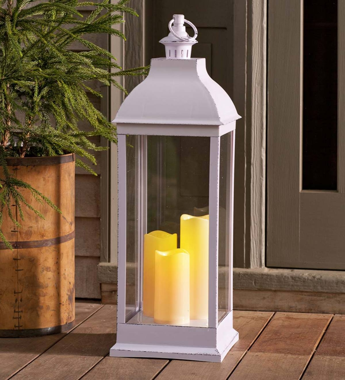 Best And Newest Outdoor Lanterns With Led Candles Within Outdoor Lantern With Led Candles (View 6 of 20)