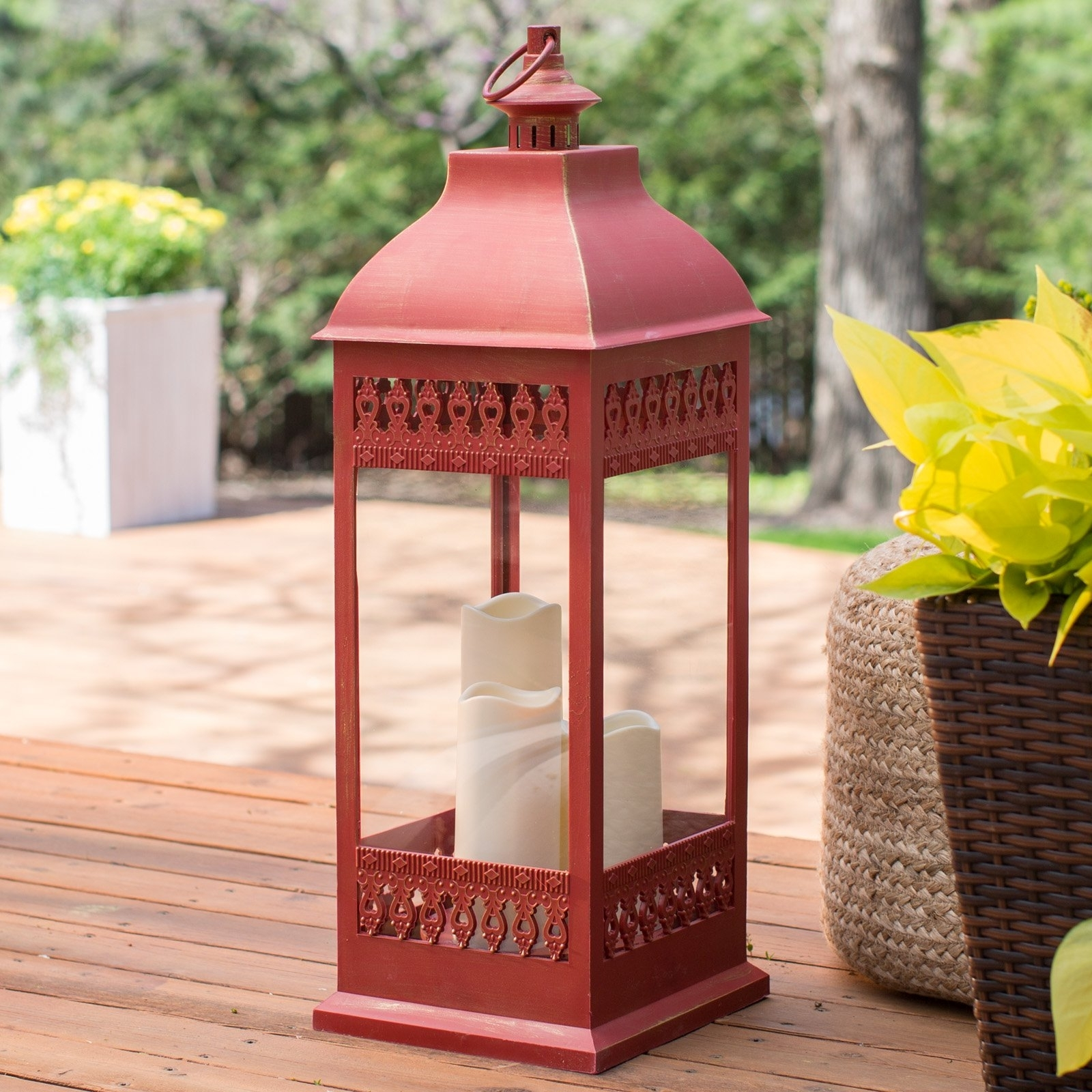Best And Newest Outdoor Lanterns With Led Candles Within Smart Design San Nicola Lantern With Led Candles (View 14 of 20)