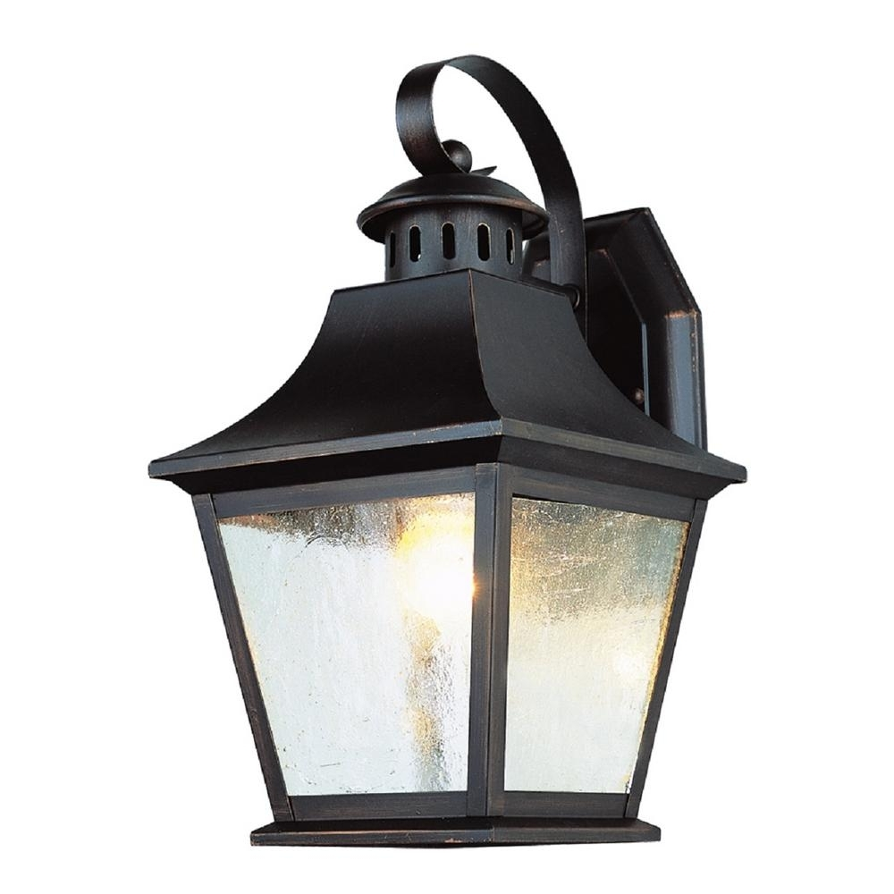 Best And Newest Outdoor Lanterns Without Glass Within Bel Air Lighting 1 Light Rubbed Oil Bronze Outdoor Lantern With (View 1 of 20)