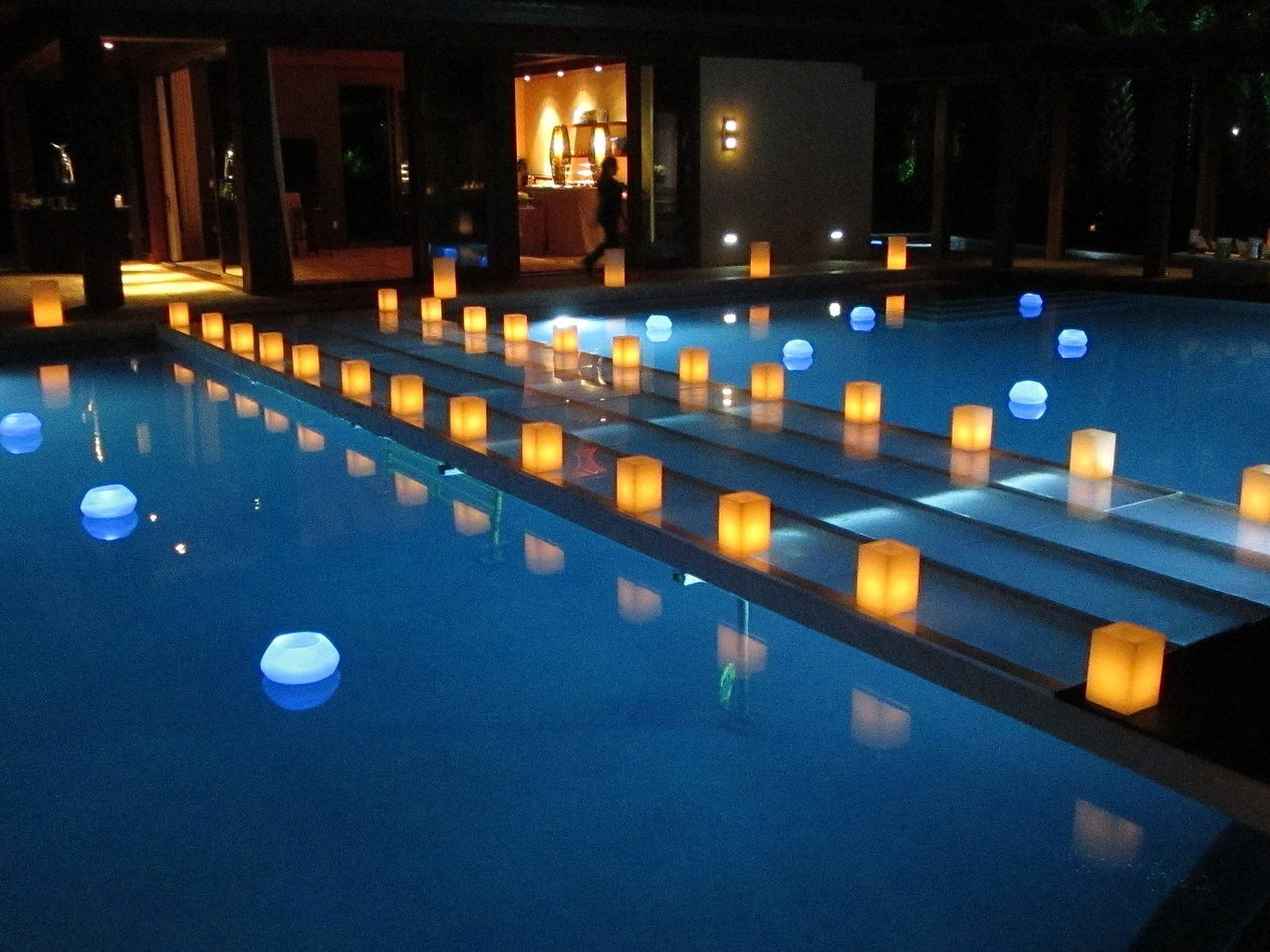 Best And Newest Outdoor Pool Lanterns In Swimming Pool Candles – Image Antique And Candle Victimassist (View 12 of 20)