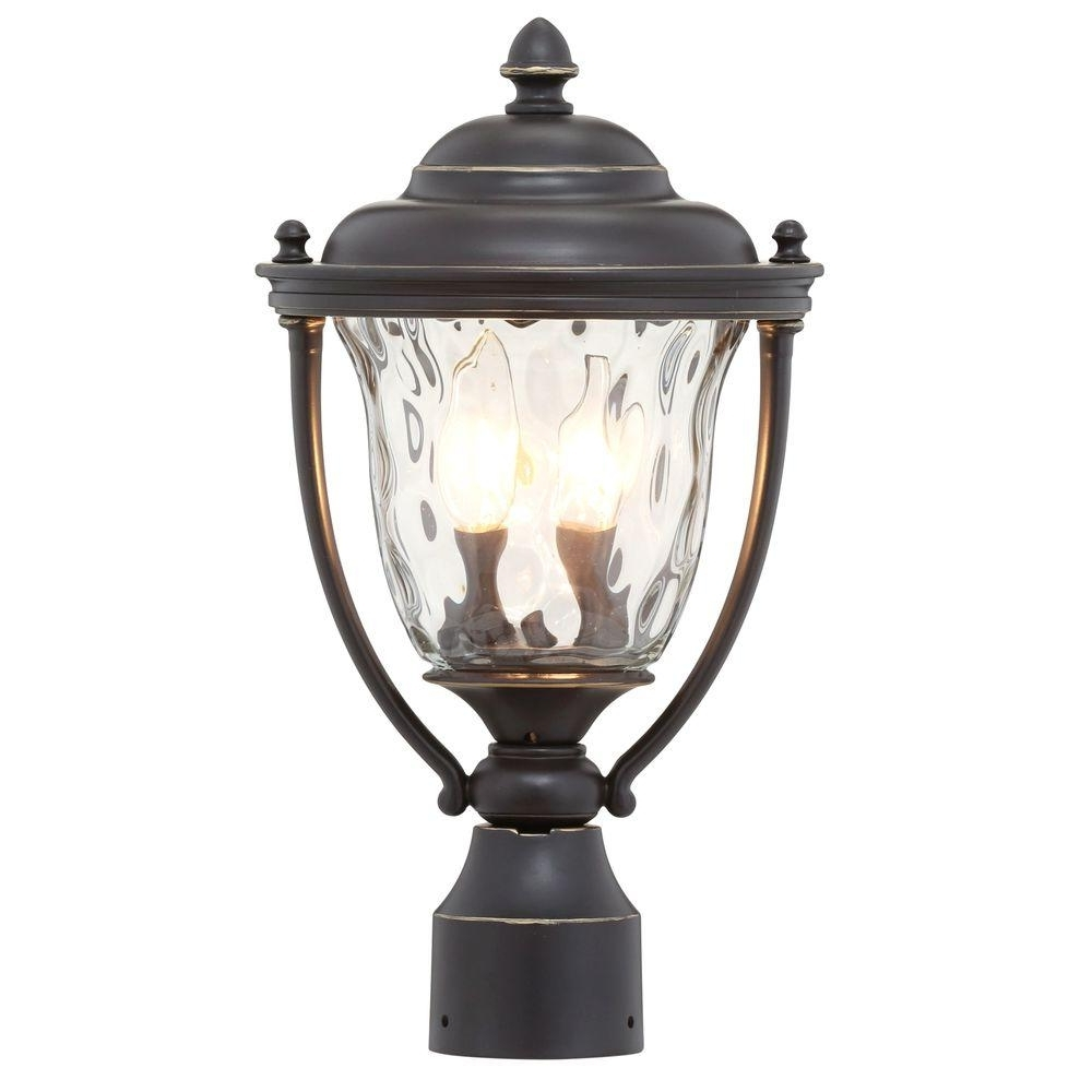 Best And Newest Progress Lighting Prestwick Collection 2 Light Oil Rubbed Bronze For Outdoor Pillar Lanterns (View 20 of 20)