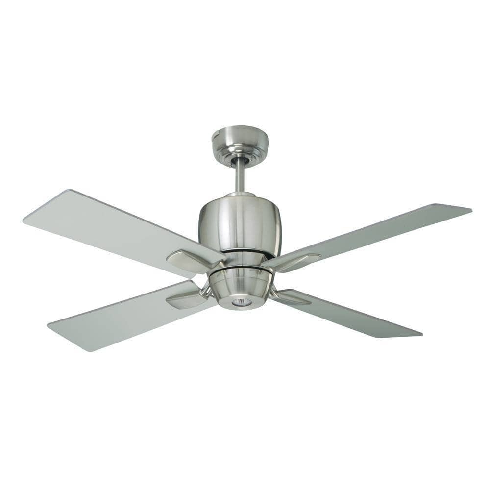 Best And Newest Shop Emerson Veloce 46 Inch Brushed Steel Modern Indoor/outdoor Regarding Modern Outdoor Ceiling Fans (Gallery 19 of 20)