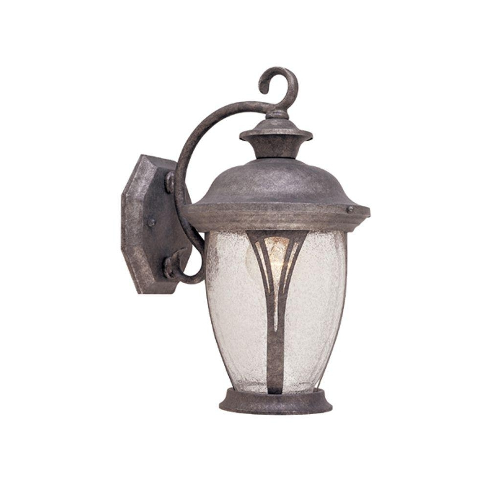 Best And Newest Silver Outdoor Lanterns In Designers Fountain Thatcher Collection Rustic Silver Outdoor Wall (View 4 of 20)