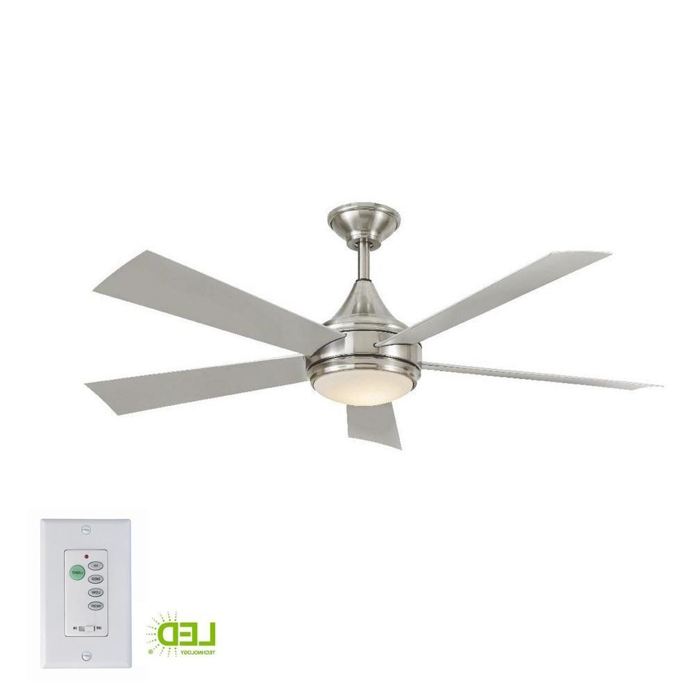 Best And Newest Stainless Steel Outdoor Ceiling Fans With Regard To Home Decorators Collection Hanlon 52 In. Integrated Led Indoor (Gallery 1 of 20)