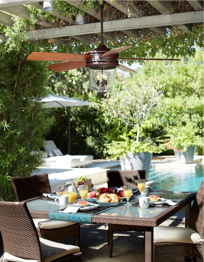 Best And Newest Stylish Pergola With Exclusive Chairs And Table Using Best Small Regarding Outdoor Ceiling Fans For Pergola (View 3 of 20)