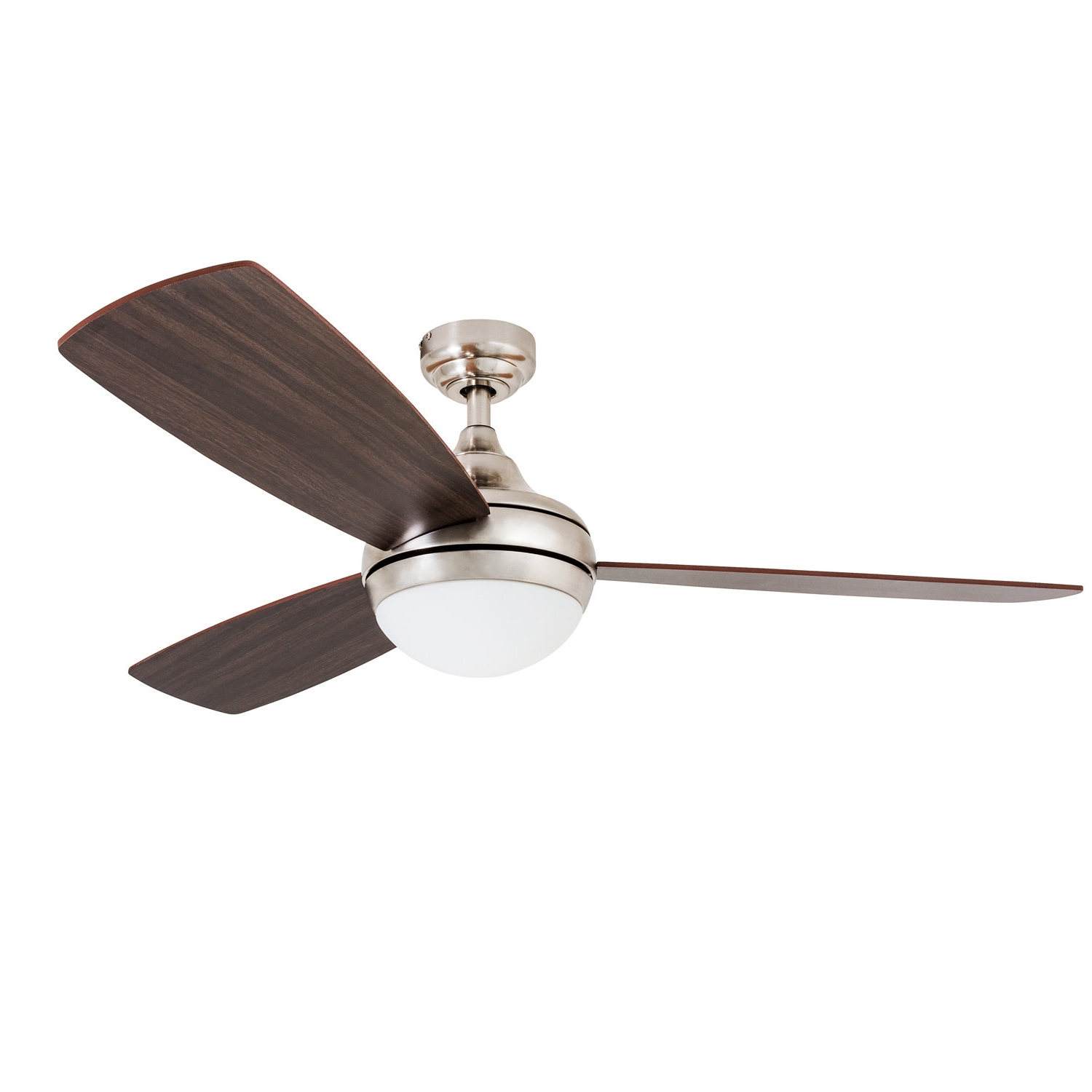 "Best And Newest Wrought Studio 52"" Alexa 3 Blade Led Ceiling Fan With Remote Control Pertaining To Outdoor Ceiling Fans Under $ (View 16 of 20)"