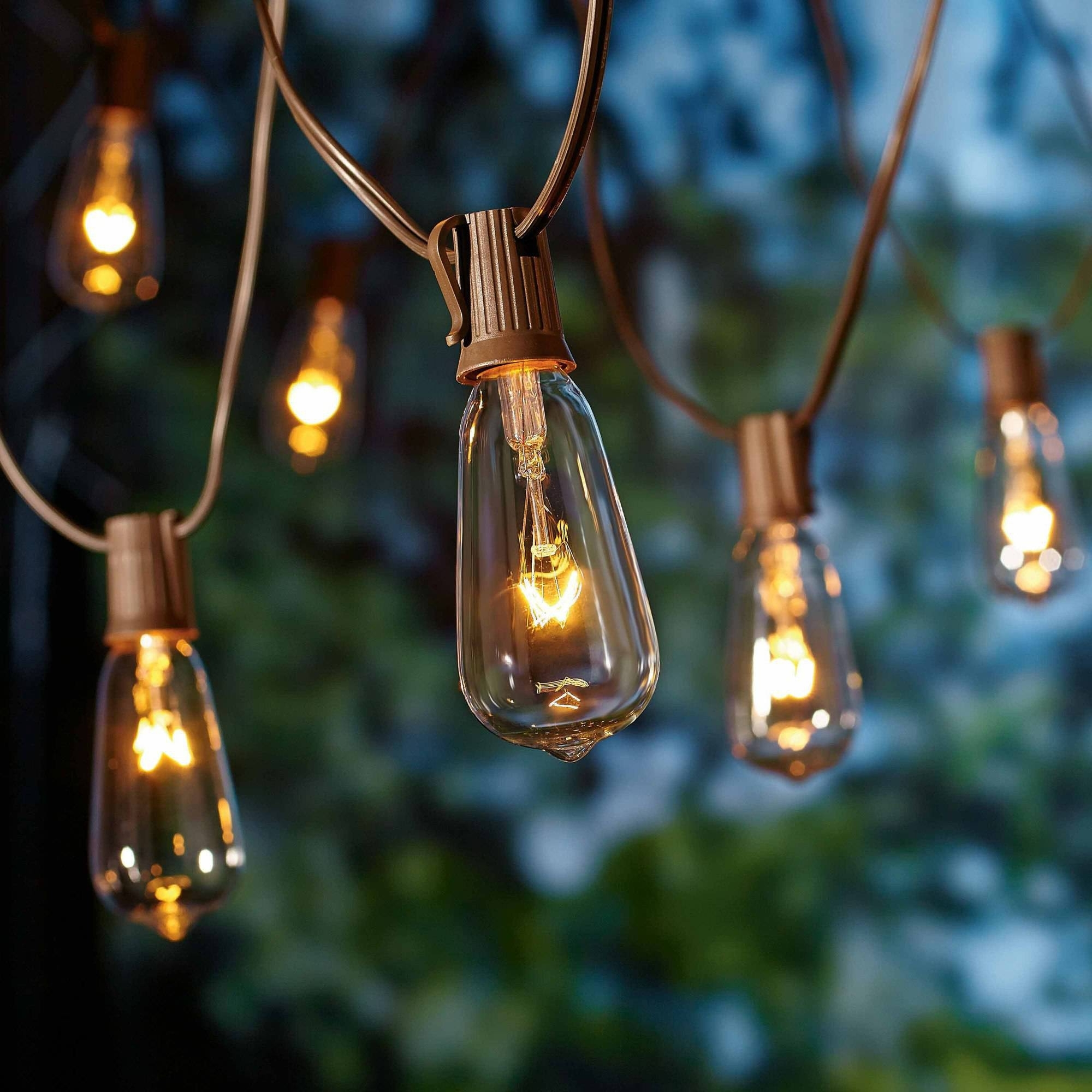 Better Homes And Gardens Outdoor Glass Edison String Lights, 10 Throughout Most Popular Outdoor String Lanterns (View 3 of 20)