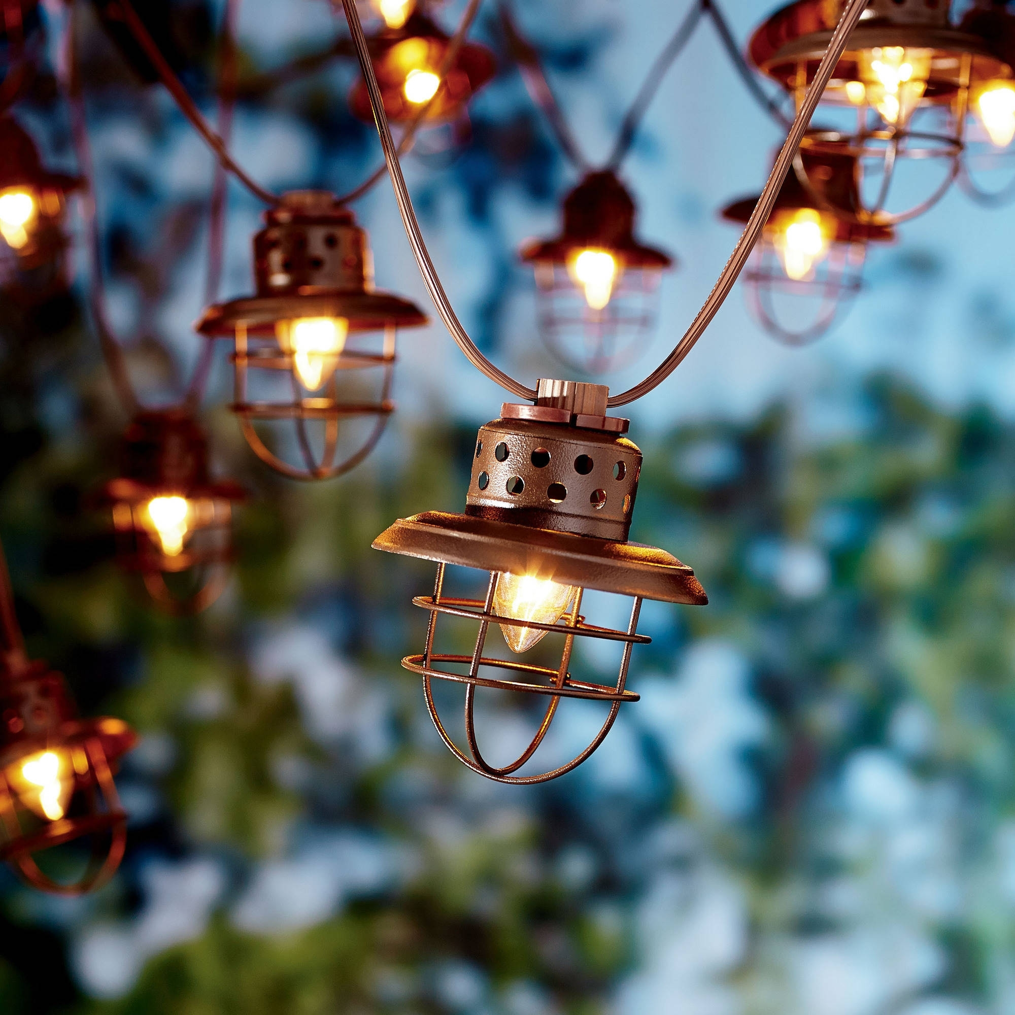 Better Homes And Gardens Outdoor Vintage Cage Lantern String Lights Intended For Favorite Walmart Outdoor Lanterns (View 5 of 20)