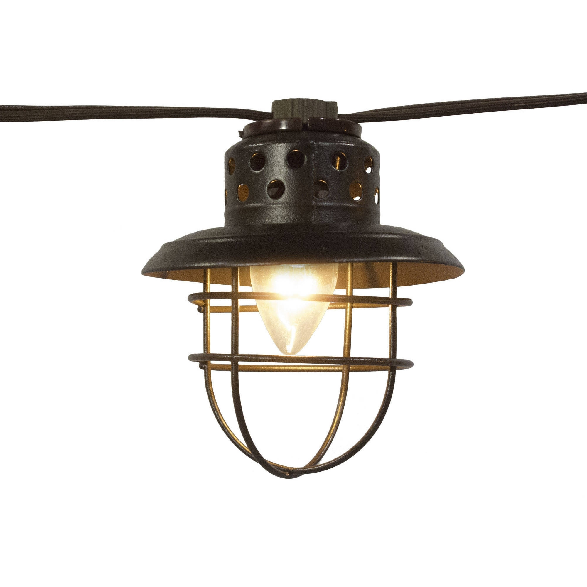 Better Homes And Gardens Outdoor Vintage Cage Lantern String Lights Regarding Famous Outdoor Lanterns On Stands (Gallery 7 of 20)