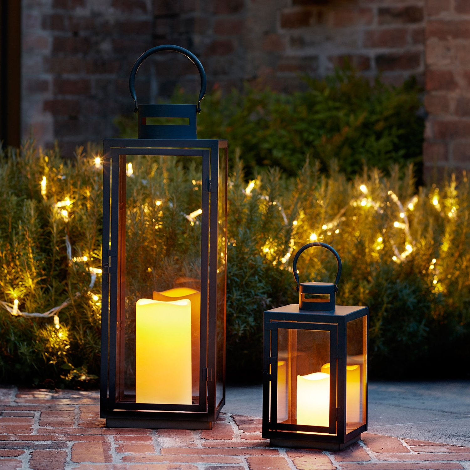 Black Metal Battery Operated Outdoor Led Candle Garden Patio With Regard To Most Recently Released Quality Outdoor Lanterns (View 3 of 20)